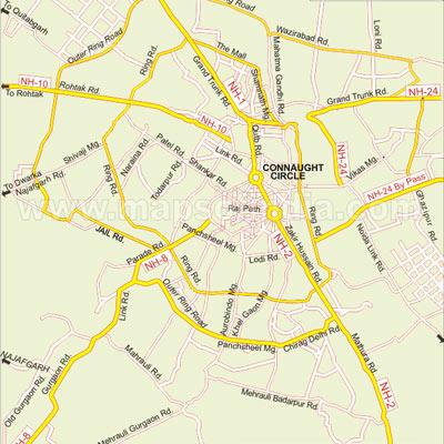 Delhi Road Map Delhi Road Map   Road Map of Delhi   Delhi City Road Map   Road