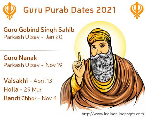 Guru Purab Dates 2020 Guru Purab Calendar Date